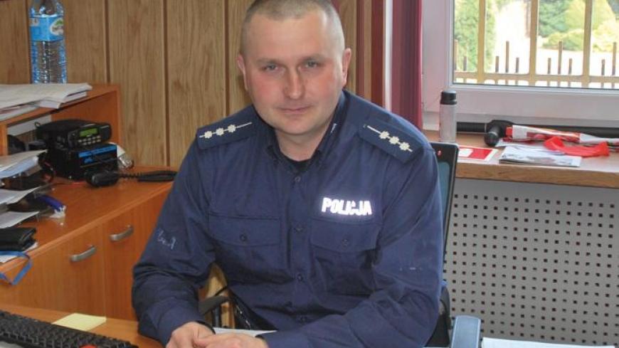 Rozmowa z kierownikiem  posterunku w Nekli, starszym aspirantem Tomaszem Lechem